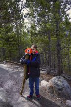 Kyle's Hiking Buddy On The Trail To Dream Lake