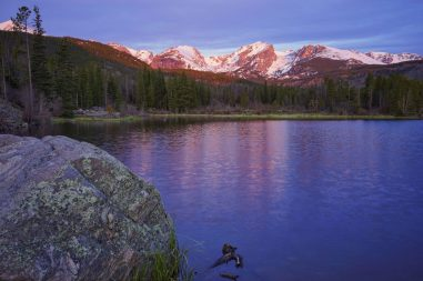 First Light On The Mountains At Sprage Lake