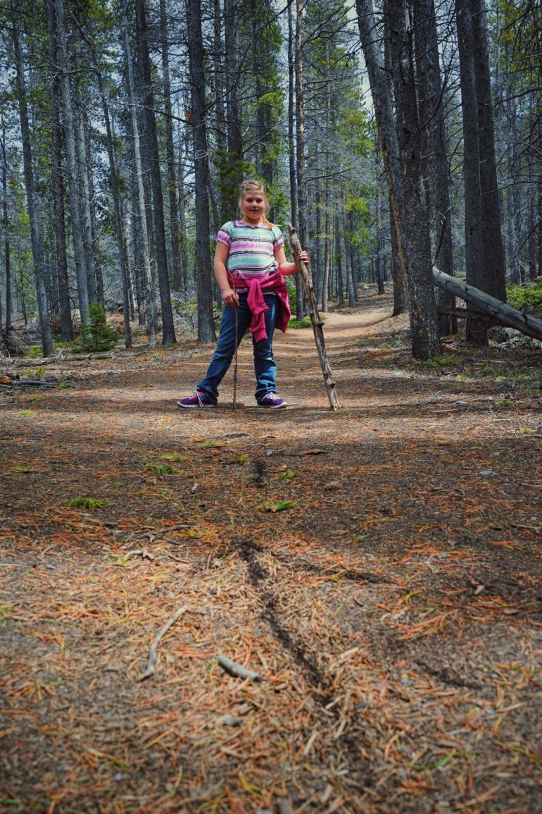Ella On Storm Pass In Rocky Mountain National Park